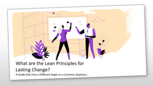 What are the Lean Principles for Lasting Change